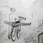 Josiane Keller - drawing by a man who drove his dead son home on the back of his bicycle
