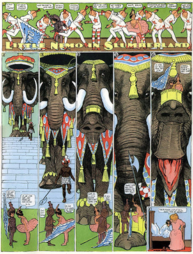 Winsor McCay Little Nemo in Slumberland elephant 2