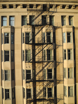 Josiane Keller - fire ladder in Chicago