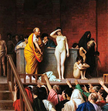 Jean-Leon Gerome -The Slave Market in Rome