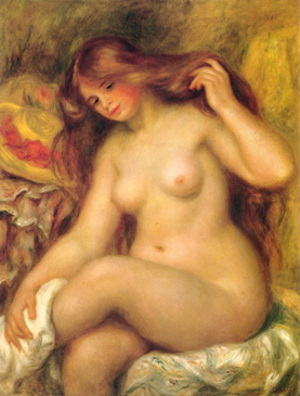 Pierre Auguste Renoir - Bather with Blonde Hair
