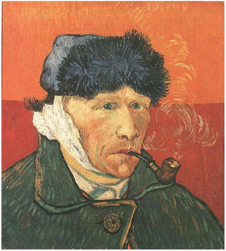Vincent VanGogh - Self-Portrait with Bandaged Ear and Pipe