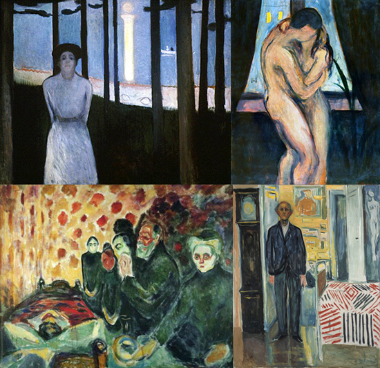 Edvard Munch - four paintings