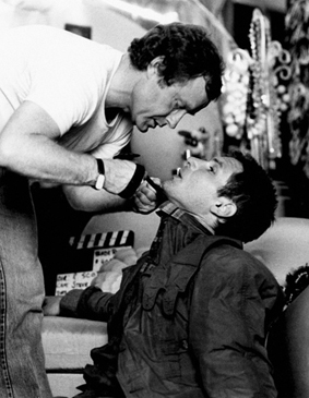Unknown photographer, Director Ridley Scott with Harrison Ford, Blade Runner, 1982