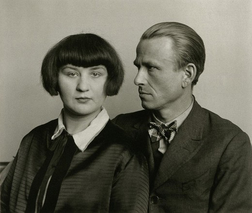 August Sander - The Painter Otto Dix and his Wife Martha - 1925