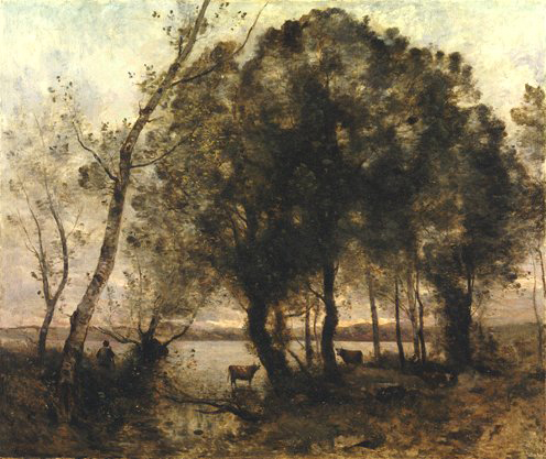 Camille Corot - the lake - 1861
