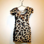 Josiane Keller - Molly's leopard-print mini dress with sheer black sides