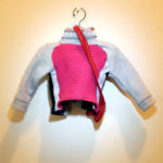 Josiane Keller - Molly's sports jacket with red leather purse - back