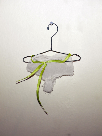 Josiane Keller - Molly's MISTY'S sheer white panties with chartreuse ribbon