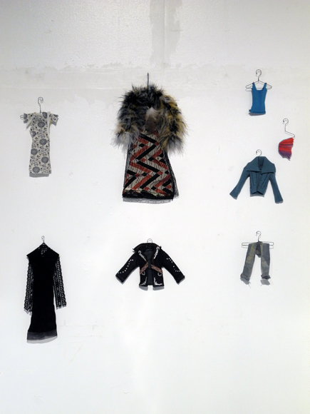 Josiane Keller - costume inventory center wall - colour