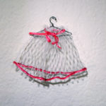 Josiane Keller - Molly's petticoat with pink silk ribbon