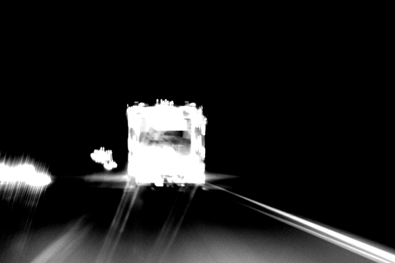 Edie Wesslechner - UHAUL truck at night on the highway