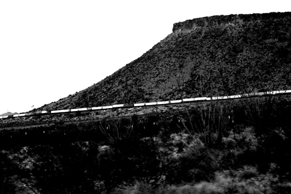 Edie Weisslechner - train by the mountain