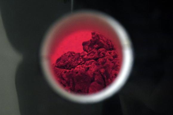 Josiane Keller - gnarly tea pot - bisque fire 1